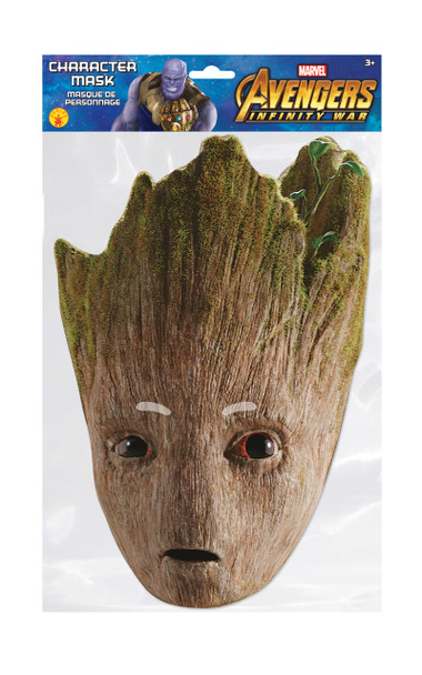 Groot Infinity War Official Marvel Single 2D Card Party Face Mask
