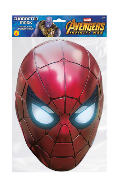 Spider-Man Infinity War Official Marvel Single 2D Card Party Face Mask