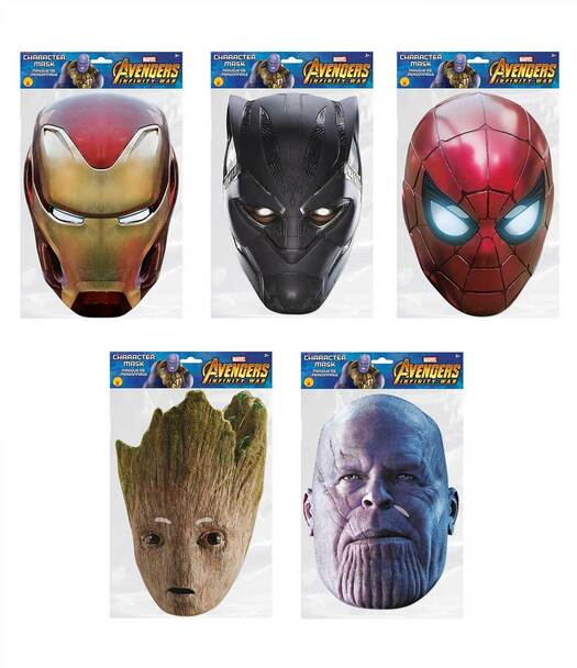 Avengers Infinity War Variety Face Mask Pack