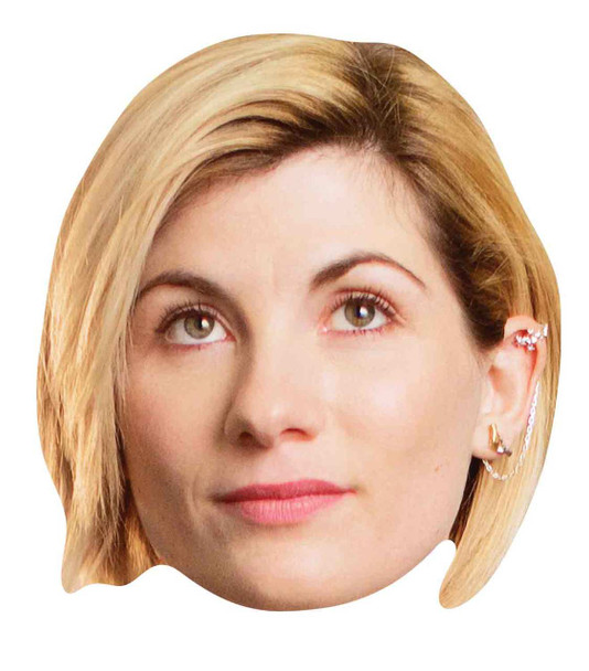 Jodie Whittaker 13th Doctor Who Official Single 2D Card Party Face Mask
