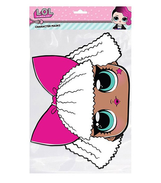 Diva LOL Surprise Single 2D Card Party Face Mask