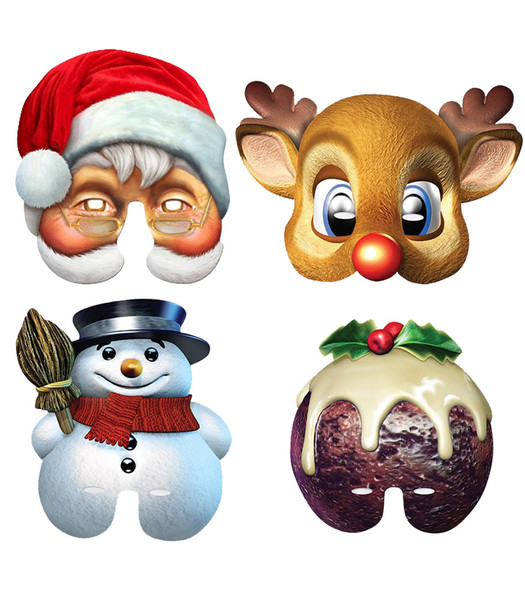 Christmas Card Mask Variety Pack of 4