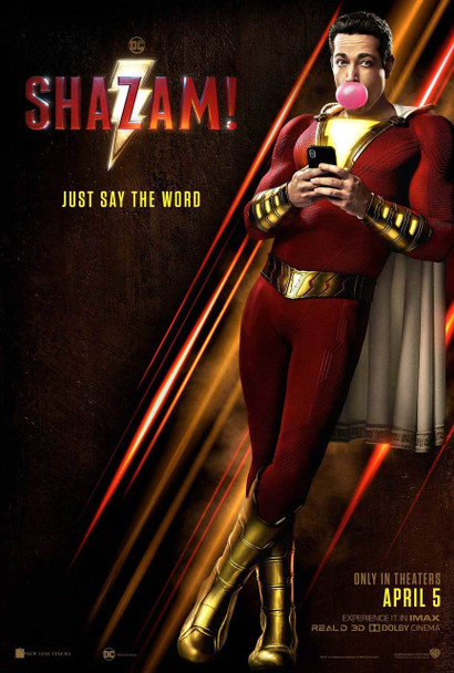 Shazam Original Movie Poster - Double Sided Advance Style