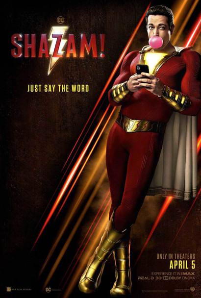 Shazam Original Movie Poster - Double Sided Advance Style