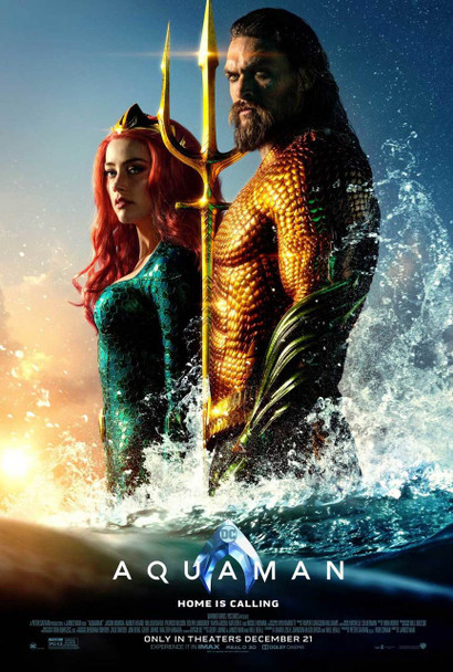 Aquaman Original Movie Poster - Double Sided Regular Style B