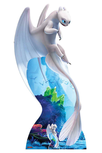 Light Fury from How to Train Your Dragon 3 Official Cardboard Cutout