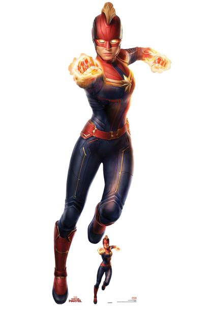 Captain Marvel Photonic Blasts Official Cardboard Cutout/ Standup