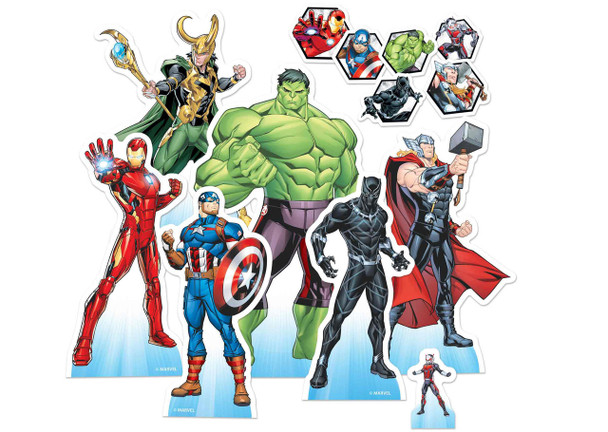 Marvel Avengers Official Table Top Cardboard Cutouts Party Pack of 7