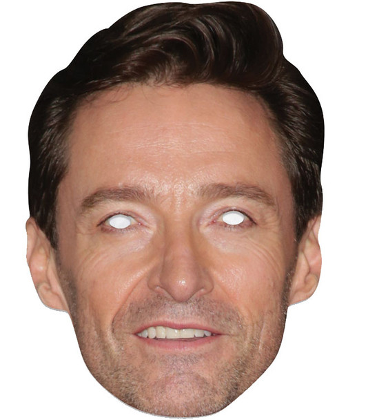 Hugh Jackman Single 2D Card Party Face Mask