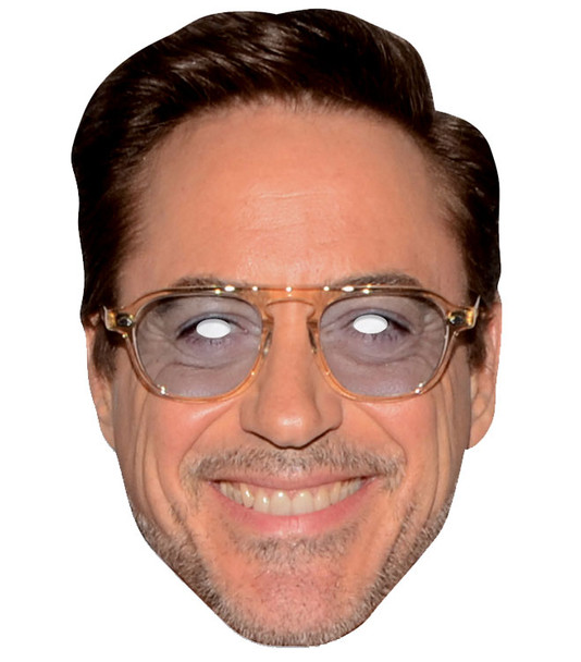 Robert Downey Jr Single 2D Card Party Face Mask