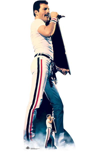 Freddie Mercury Rock Icon Lifesize Cardboard Cutout / Standup