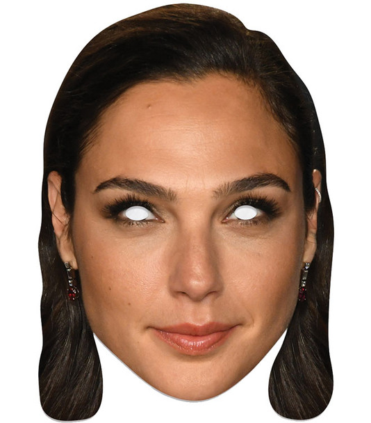 Gal Gadot Single 2D Card Party Face Mask