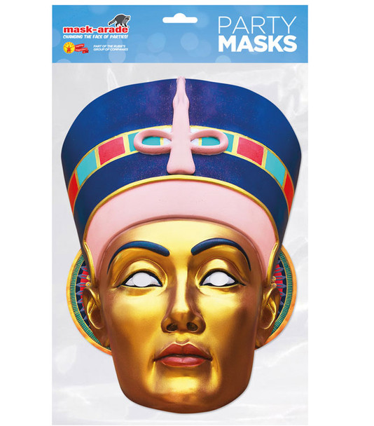 Egyptian Queen Historical Single 2D Card Party Face Mask