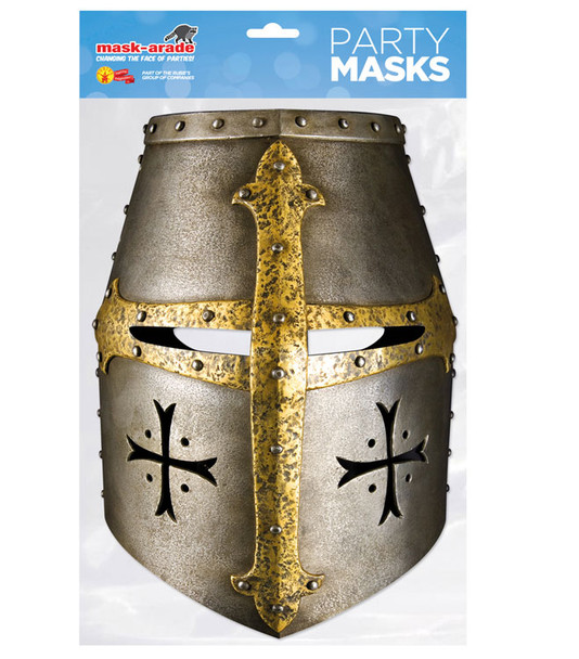 Knight Helmet Historical Single 2D Card Party Face Mask