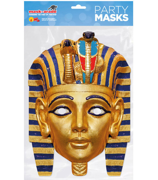 Egyptian Pharaoh Historical Single 2D Card Party Face Mask