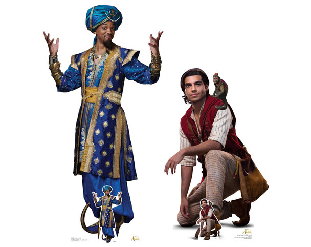 Aladdin & The Genie from Disney's Aladdin Official Lifesize Cardboard Cutout - Set of 2