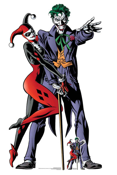 Harley Quinn and The Joker Comic Style Official Lifesize Cardboard Cutout