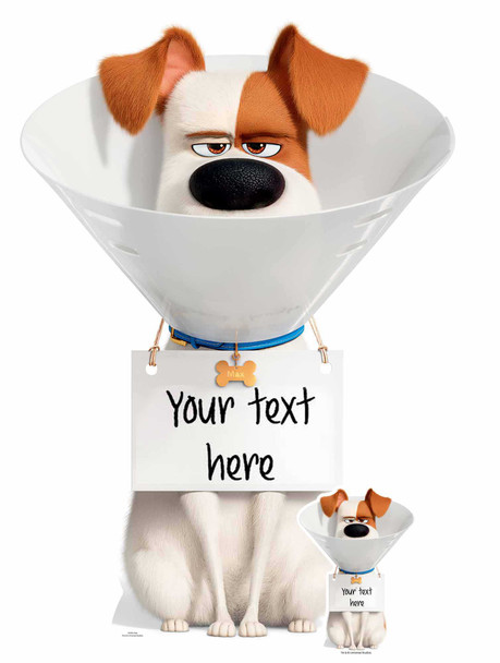 Max the dog Secret Life Of Pets personalised cardboard cutout