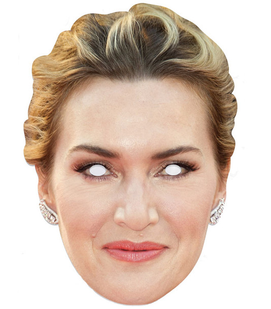 Kate Winslet Celebrity Single 2D Card Party Face Mask