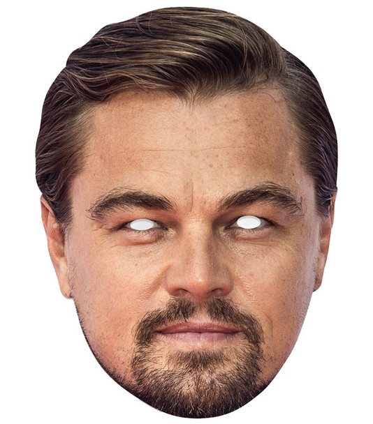 Leonardo DiCaprio Celebrity Single 2D Card Party Face Mask