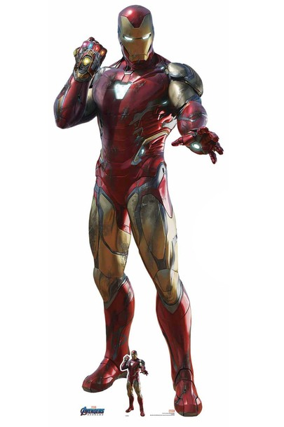 Iron Man Wearing Infinity Gauntlet Marvel Avengers: Endgame Cardboard Cutout