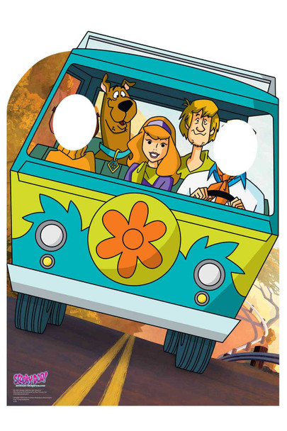 Scooby Doo Mystery Machine Van Child Size Stand-In Cardboard Cutout