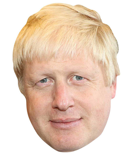 Boris Johnson British Prime Minister Single 2D Card Party Face Mask