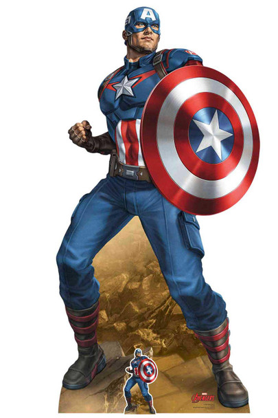 Captain America Mightiest Hero Marvel Legends Official Cardboard Cutout
