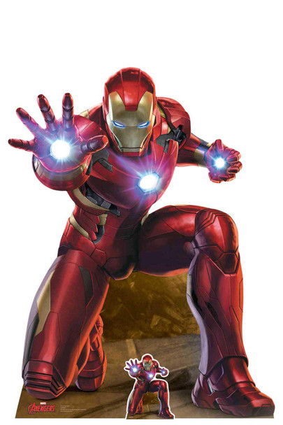 Iron Man Repulser Beam Blast Marvel Legends Official Cardboard Cutout