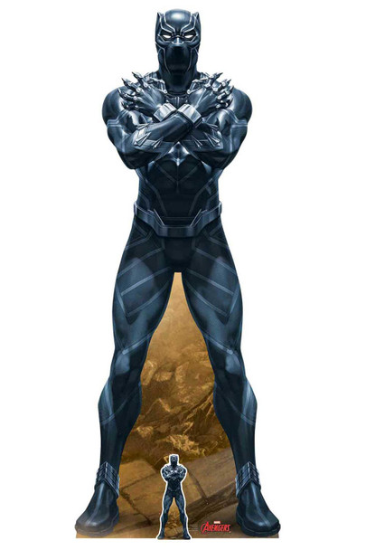 Black Panther King of Wakanda Marvel Legends Official Cardboard Cutout