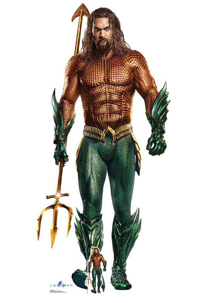 Aqua Man Official DC Comics Live Action Style Cardboard Cutout