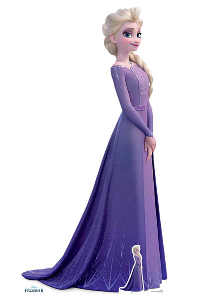 Elsa Violet Dress from Frozen 2 Disney Cardboard Cutout