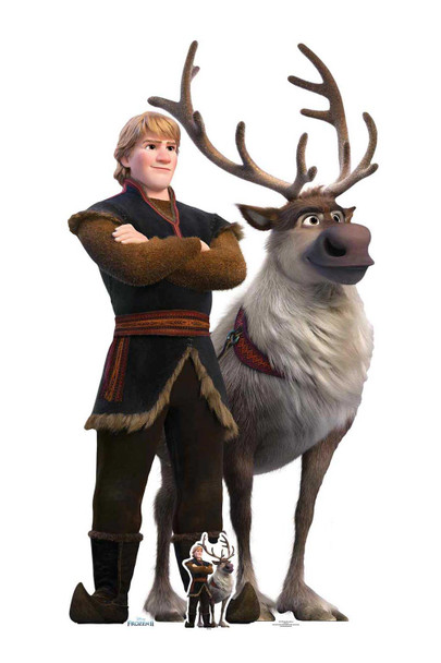 Kristoff and Sven from Frozen 2 Official Disney Cardboard Cutout