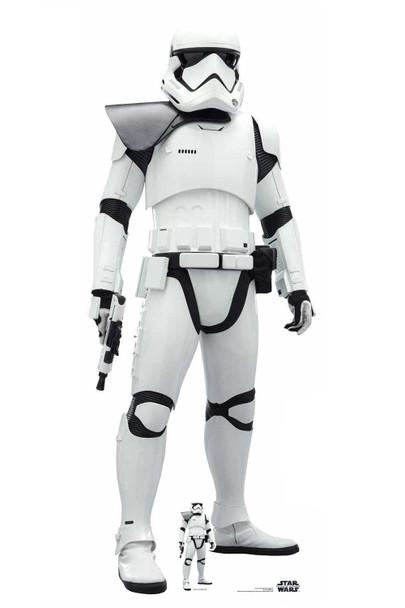 First Order Stormtrooper Black Pauldron Lifesize Cardboard Cutout Star Wars: The Rise of Skywalker