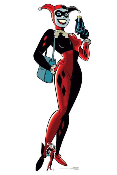 Harley Quinn with Gun Official DC Comics Lifesize Cardboard Cutout