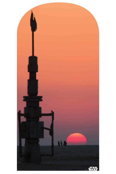 Star Wars Jakku Sunset Official Cardboard Cutout Backdrop / Standup