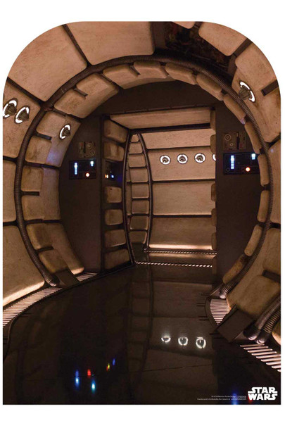 Star Wars Millennium Falcon Corridor Child Size Official Cardboard Cutout Backdrop