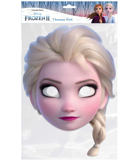 Elsa from Frozen 2 Official Disney Single 2D Card Party Face Mask