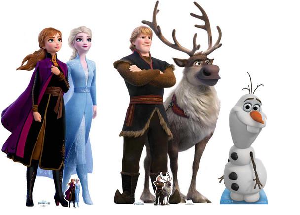Frozen 2 Official Disney Cardboard Cutout / Standup Collection - Set of 3