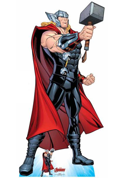 Thor Mjolnir's Might Hammer Pose Official Marvel Cardboard Cutout