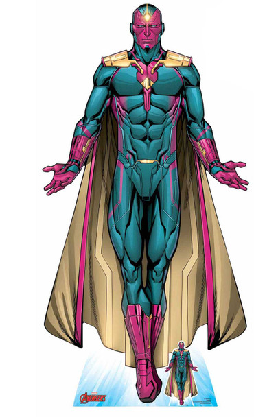 Vision Android Avenger Official Lifesize Marvel Cardboard Cutout