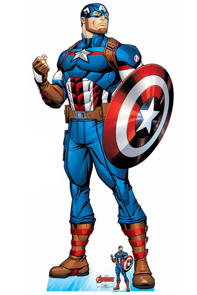 Captain America Official Lifesize Marvel Avengers Cardboard Cutout