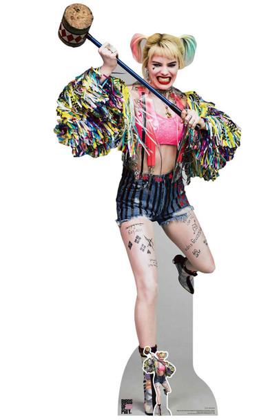 Harley Quinn Swinging Mallet Birds of Prey Lifesize Cardboard Cutout