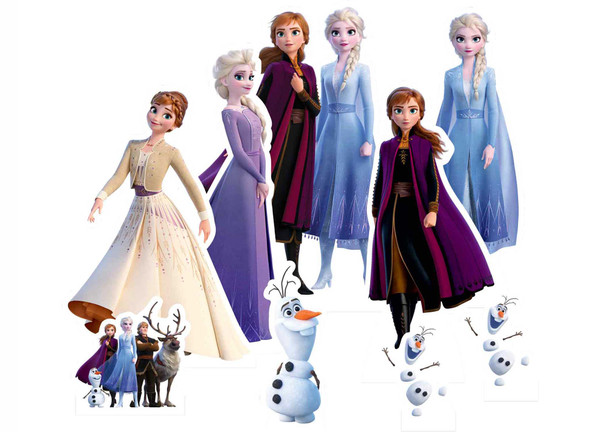 Frozen 2 Official Table Top Cardboard Cutouts Party Pack of 9