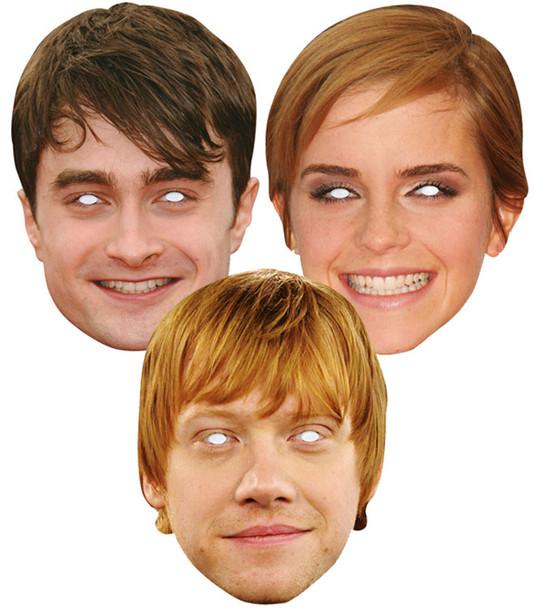 Harry Potter Actors 2D Card Party Masks Pack of 3