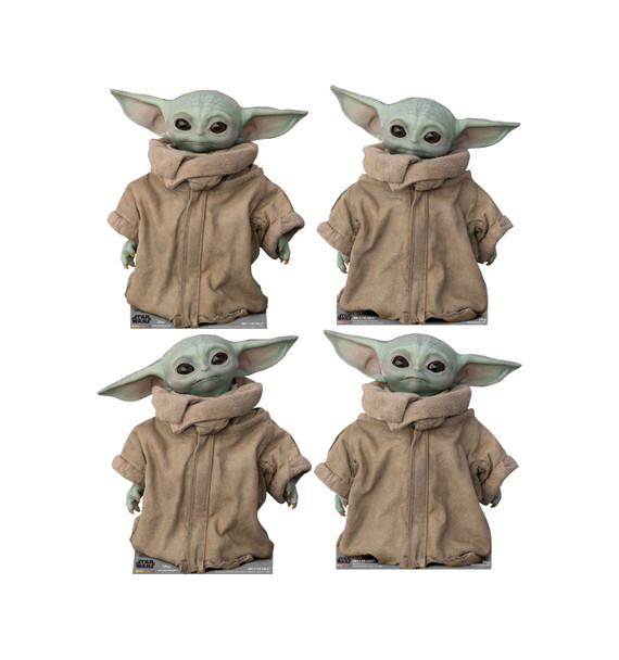 The Child (Baby Yoda) Set of 4 Cardboard Cutouts From The Mandalorian