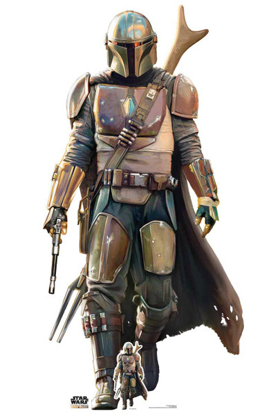The Mandalorian Official Star Wars Lifesize Cardboard Cutout