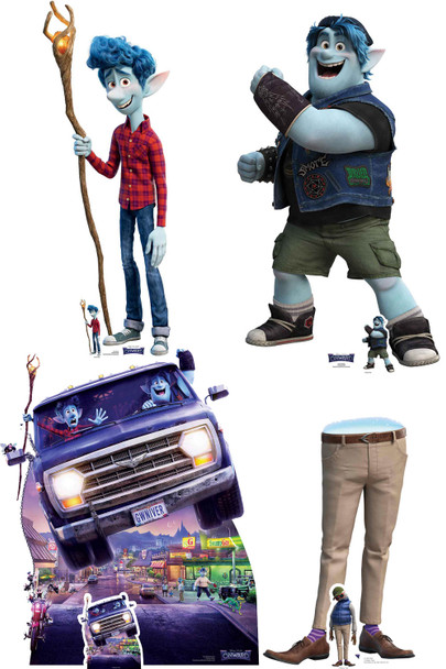 The Lightfoots from Onward Official Lifesize Cardboard Cutouts - Set of 4