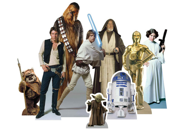 Star Wars Heroes Official Table Top Cardboard Cutouts Party Pack of 9