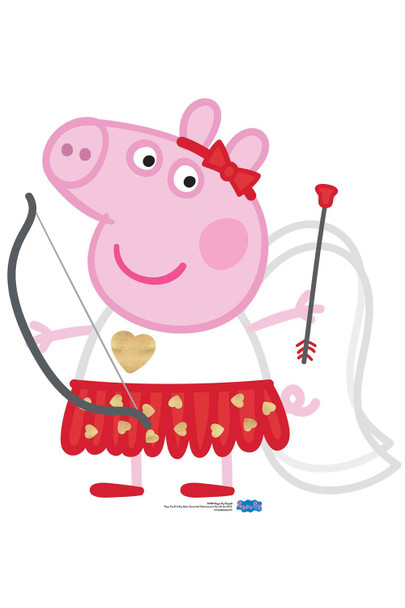 Peppa Pig Cupid Bow and Arrow Cardboard Cutout